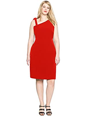 Women's Plus Size Sexy One Shoulder Sleeveless Tie Bowknot Prom Evening Party Bodycon dress
