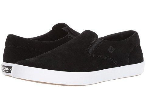 (スペリートップサイダー) SPERRY TOPSIDER メンズカジュアルシューズスニーカー靴 Wahoo S/O Suede [並行輸入品] B073Z5Z4ZW 8.5 (26.5cm) M (D) ブラック