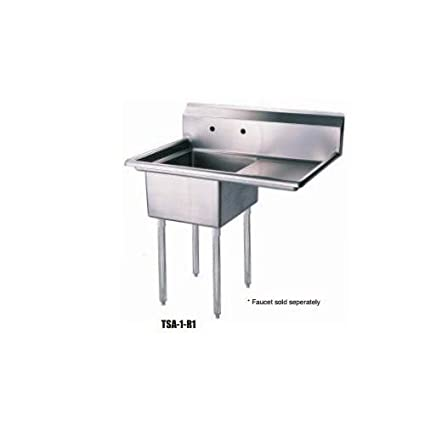 Enjoyable Tsa 1 R1 Right Side Drain Board 39W One Compartment Sink Download Free Architecture Designs Osuribritishbridgeorg