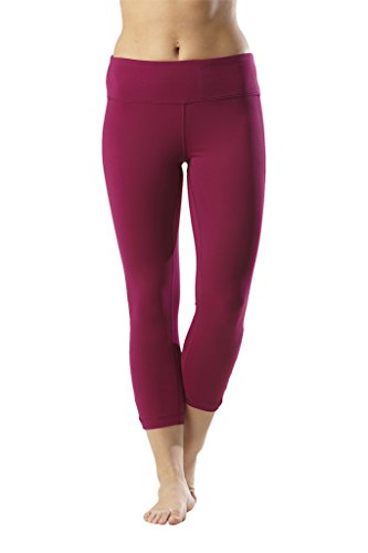 90 Degree By Reflex Womens Side Cut Out Capris - Magenta Haze - Large