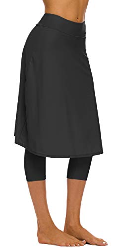 (Seagoo Swim Skirt with Leggings Women UV Protection Skirted Swimming Leggings)
