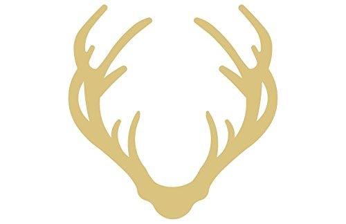 (Antlers Cutout Unfinished Wood Deer Reindeer Elk Moose Horns Trophy MDF Shape Canvas Style)