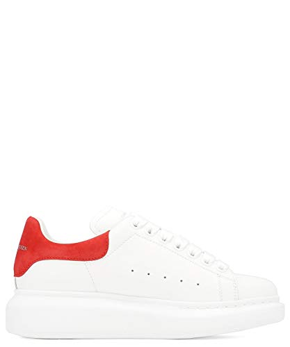 Alexander McQueen Women's 553770Whgp79676 White Leather Sneakers