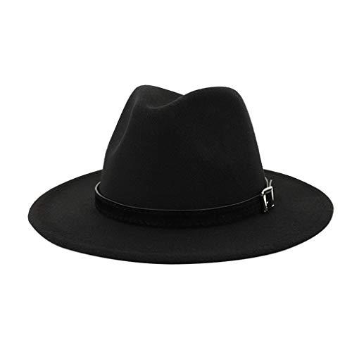 Men & Women Vintage Wide Hat with Belt Buckle Adjustable Outbacks Hats(Black) - http://coolthings.us