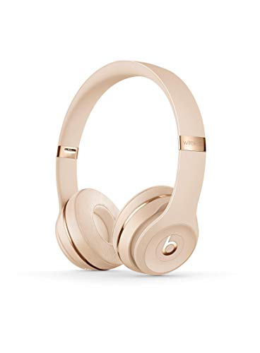 Beats Solo3 Wireless On-Ear Headphones – Apple W1 Headphone Chip, Class 1 Bluetooth, 40 Hours Of Listening Time – Satin Gold (Previous Model)