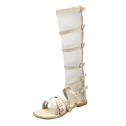 Coolcept Mujer Plano Cut Out Sandalias Beige