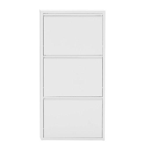 Magazin Möbel 4001070443373 Schuhklapper, 50 x 15 x 171 cm, metall, weiß