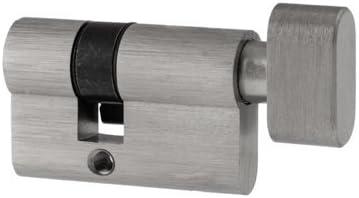 Cilindro de pomo para herrajes de puerta de cristal 20/30 y 30/20 – apertura exterior