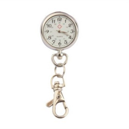 Stainless Steel Alloy Quartz Pocket Watch Pendant with Keychain (Keychain Pocket Watch)