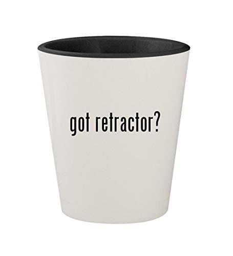 got retractor? - Ceramic White Outer & Black Inner 1.5oz Shot Glass