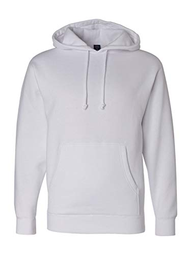 ITC Mens Hooded Pullover Sweatshirt IND4000 - White - Small from Independent Trading Co.