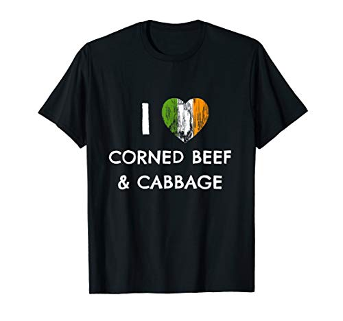 (I HEART CORNED BEEF & CABBAGE ST PATRICK'S DAY T SHIRT)
