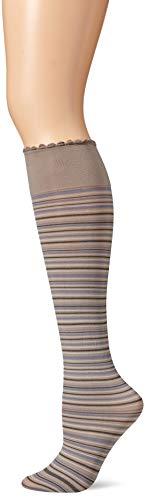 - HUE Women's Graduated Compression Opaque Knee Hi Socks, Stoneware One Size