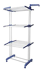 Leostar Three Layer Clothes Rack Hanger With Wheels