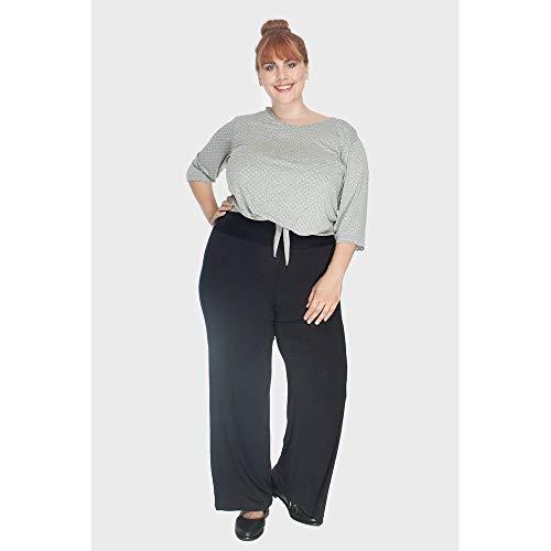 Calça Pantalona Plus Size Preto-48/50