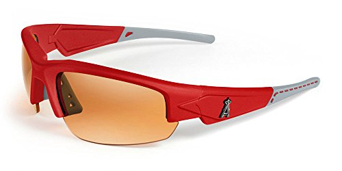 Maxx Sunglasses HD -LOS ANGELES ANGEL OF ANAHEIM DYNASTY 2.0 (RED/GREY, AMBAR)