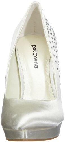 Paco Mena Vicky 04773 - Zapatos de novia de tela para mujer Marfil (Elfenbein/Ivory)