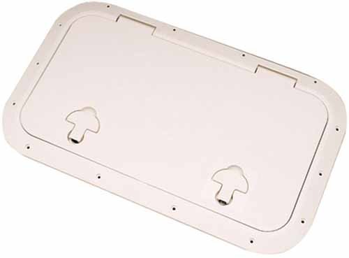 Bomar Inspection Hatch 8-3/16'' X 12-3/16'', Off White