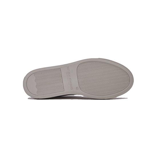 Hvidt Guld Logo Standard Gummisål Sneakers Kvinders Læder National afqYW8