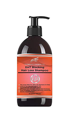 Hair Restoration Laboratories' 2018 DHT Blocking Hair Loss/Hair Regrowth Shampoo. Over 20 DHT Blockers. Daily Use for Men & Women. 16 Ounces. by Hair Restoration Laboratories, LLC