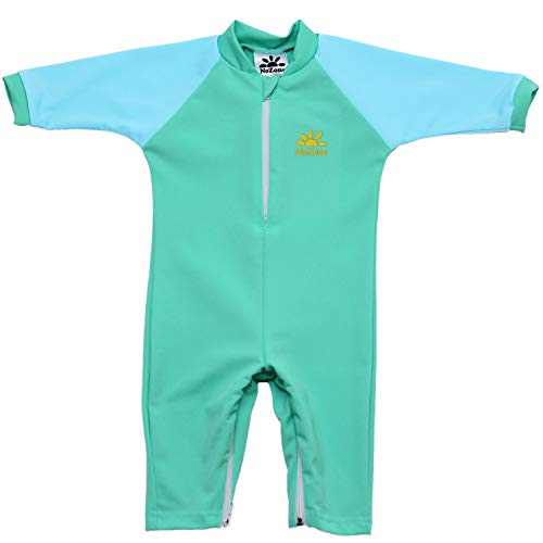 Nozone Fiji Sun Protective Baby Swimsuit in Opal/Aqua, 0-6 Months