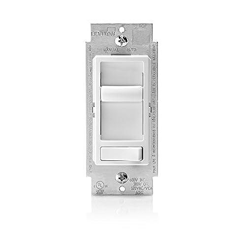Leviton 6674 P0W SureSlide Universal 150 Watt LED And CFL/600 Watt  Incandescent Dimmer, White