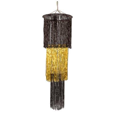 Gold Fringe Chandelier - Beistle 1-Pack 3-Tier Shimmering