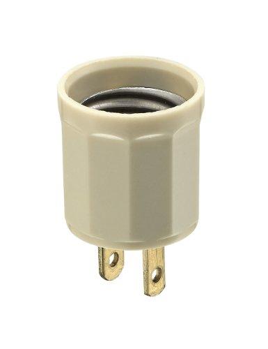 leviton 61-i 15 amp, 660 watt, 125 volt, outlet-to-lampholder adapter, ivory