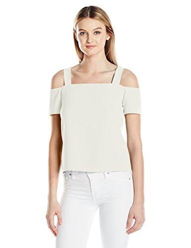 Cooper & Ella Women's Ava Cold Shoulder Top, White, S