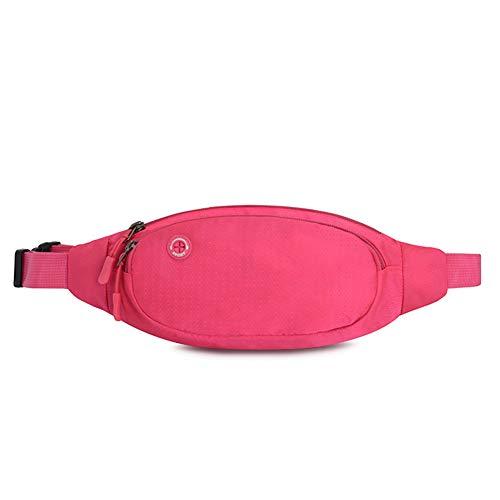 Color Deportivo De Ocio Adecuado Nylon Impermeable Aire 13 Bolsa pink para Sólido Red Al YBYBYB Bolsillo Material Libre 33Cm Viajes Deportes z5YnFIqYw
