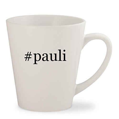 #pauli - White Hashtag 12oz Ceramic Latte Mug - Pauly New D Hair Dj
