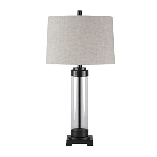 Ashley Talar Clear and Bronze Finish Glass Table Lamp L430164