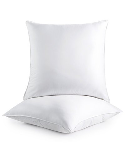 The Great American Store - Down Alternative Set of 2 Pillows, Euro size (28x28) - Super Plush Dust Mite Resistant Hypoallergenic, Siliconized Fiberfill (28 X 28 Euro Pillow)