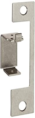 """HES Stainless Steel HM Faceplate for 1006 Series Electric Strikes for Use with Mortise Locksets with a 1"""" Deadbolt with a Deadlatch Below the Latchbolt, Satin Stainless Steel Finish"""