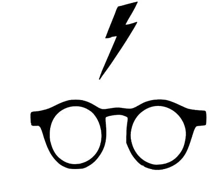 Amazoncom Harry Potter Glasses And Lightning Scar Decal Only 3in X