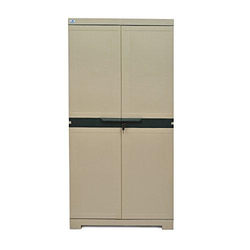@home by Nilkamal Freedom Mini Medium Storage Cabinet (Green and Grey)