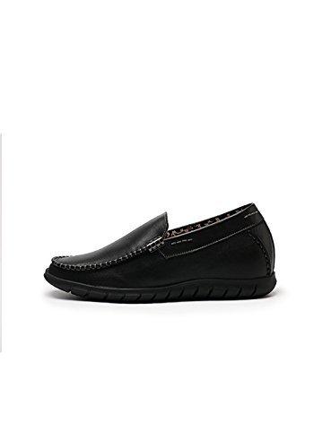 Zerimar Hoogte Verhogende Liftschoenen Voor Heren.add +2,4 Inch Tot Uw Lengte. Kwaliteit 100% Lederen Schoenen. Gemaakt In Spanje, Zwart, 41 Eu