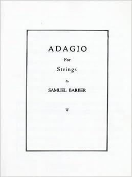 バーバー: 弦楽の為のアダージョ Op.11/シャーマー社/大型スコア