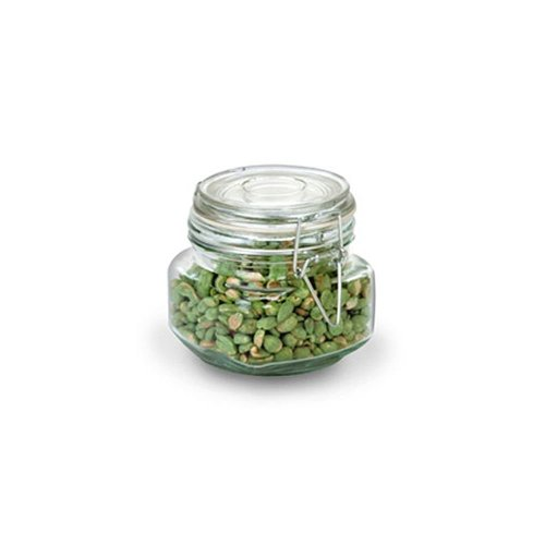 Anchor Hocking 17-Ounce Glass Jar with Hermes Clamp Top Lid, Set of - Heremes Jar