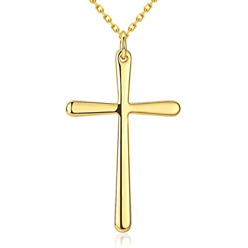 Simple 24K Gold Plated Cross Pendant (Red Dot Store Perth)