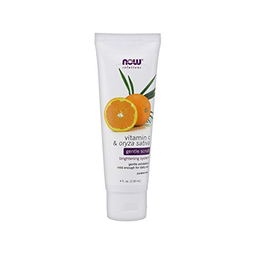 - NOW Solutions, Vitamin C and Oryza Sativa Gentle Scrub, Brightening System, Gentle Mild Exfoliation for Daily Use 4-Ounce