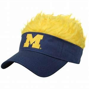 The Northwest Company Officially Licensed NCAA Michigan Wolverines Flair Hair Visor