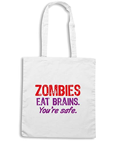 TZOM0022 ZOMBIES Shirt Shopper Borsa Bianca Speed 0fInOxXn