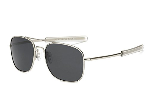 Gris polarizada de cuadradas aviador metal Nueva las Plata de protección de UV400 del retro gafas marco sol del xTgAAY5q