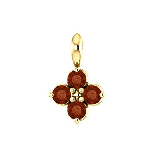 (Bonyak Jewelry 14k Yellow Gold Youth Mozambique Garnet Pendant)