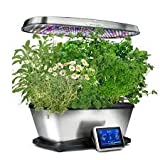 Aerogarden Bounty Elite Wi-Fi Stainless Steel Indoor Garden with Cherry Tomato Kit