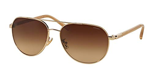 COACH Women's 0HC7053 Light Gold/Brown Gradient Sunglasses