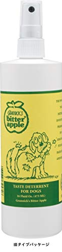 Grannick's Bitter Apple for Dogs Spray Bottle, 16 Ounces, Golds & Yellows (1116AT)