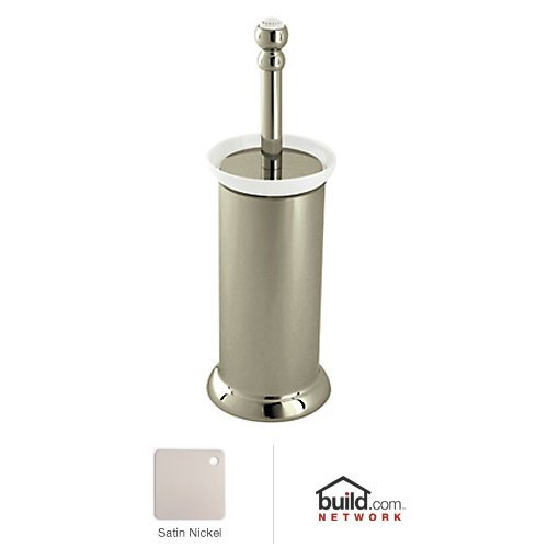 (Rohl U.6937 Perrin and Rowe Floor Standing Toilet Brush Holder, Satin Nickel)