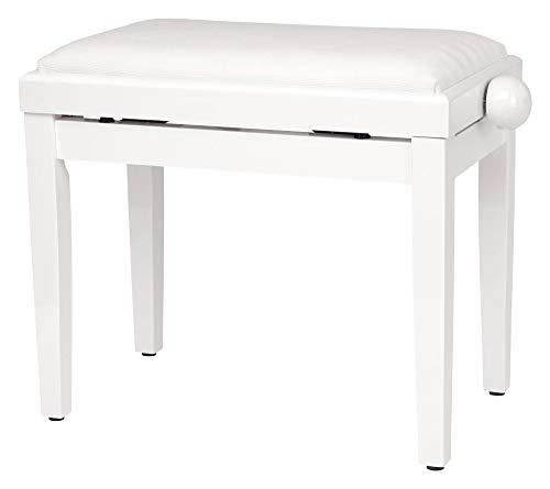Classic Cantabile banquette de Piano en blanc brillant